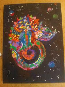 """Картина """" Космический ящер"""""""