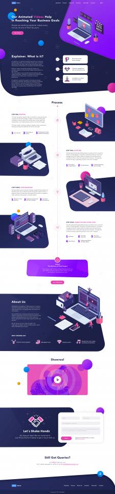 Дизайн 3-х страничного сайта Oktomedia