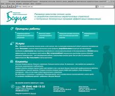 Сайт-визитка для aгенствa медиа коммуникаций Бодиле