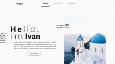 Сайт портфолио молодого дизайнера из Харькова