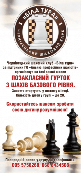 Флаер шахматного клуба