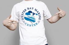 Логотип для яхтклуба и визуализация на футболке