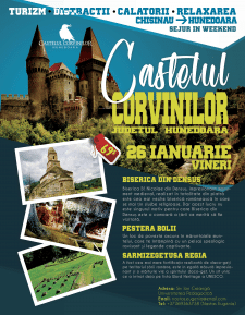 """Flyer(путешествие по Румынии """"Județul Corvinelor"""")"""