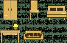 Набор иконок на сайт мебели