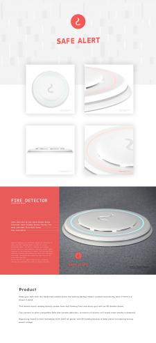 Smoke detector 3d design