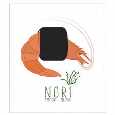 Логотип для суши бара