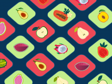 Fruit halves icons