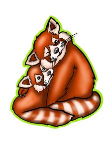 Стикер панды