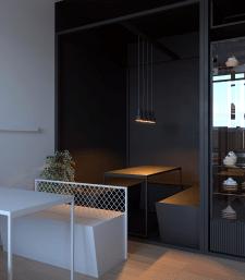 Дизайн интерьера кофейни в яркими акцентами