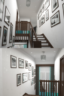 Частный дом в г. Одесса (Холл _ 2-го этажа)