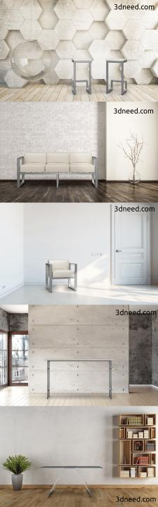 Моделирование и визуализация мебели в интерьере
