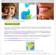 Сайт частного стоматологического кабинета