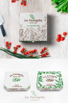 Дизайн упаковки для піци. Друк  два кольори