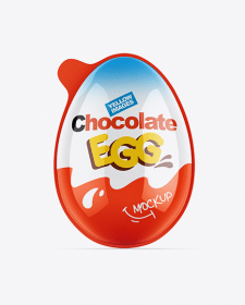 Chocolate Egg Pack Mockup