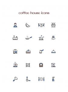 Иконки для приложения кофейни