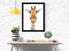 «Допитлива жирафа» ілюстрація на замовлення