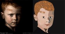 Портрет растр в вектор