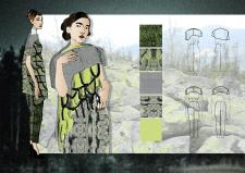 Дизайн женского комплекта в этно стиле