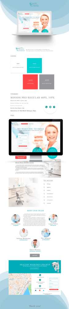 Medical clinic landing page