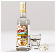 "Vodka label design, Vodka ""Muzhik"" label, Этикетка для водки ""Му"