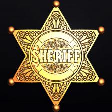 Sheriff's Star. Gold. Модель для станка с ЧПУ.