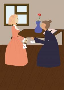 Иллюстрация к сказке Дюймовочка