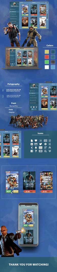 UI/UX design Game market