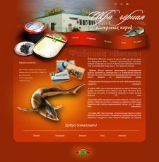 """сайт-визитка рыбной компании: """"Фабрика-весна"""""""