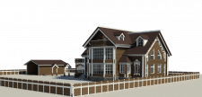 3D модель загородного дома усадебного типа