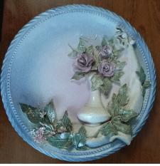 Керамічна настінна декоративна тарілка