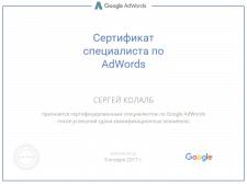 Сертифицированный специалист Google Adwords Поиск