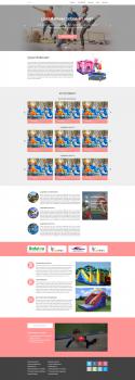 Создания дизайна Lending Page для сайта батуты