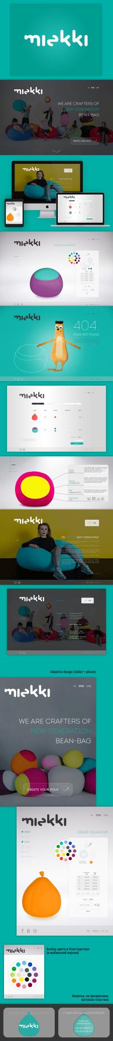 Логотип, сайт (+адаптивная), персонаж для Miekki