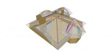 Схема несущих элементов покрытия (концепция 2)