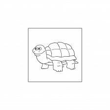 раскраски для детей - черепаха