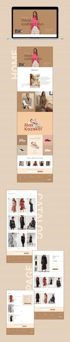 Дизайн онлайн магазина повседневной одежды