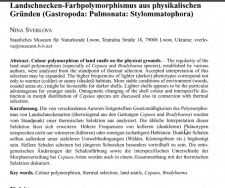Научная статья на немецком