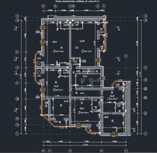 План технического этажа многоэтажного здания