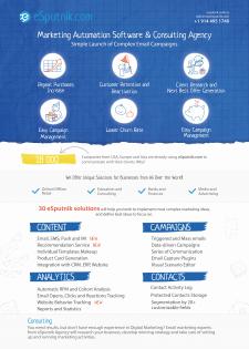 Листовка для сервиса email маркетинга eSputnik