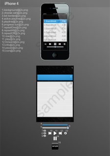 Скин для плеера:iPhone 3,iPhone 4,iPad