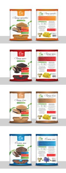 Дизайн упаковки семян горчицы и льна