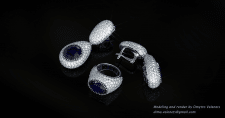 Jewelry Set with Sapphires and Diamonds