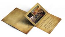 Открытка-пригласительный на крафтовой бумаге
