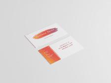 дизайн визитки для художника