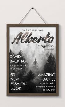 Обложка для журнала Alberto