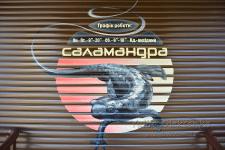 Роспись кассетного ролета аэрографом