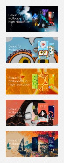 Баннеры для приложения с обоями на Android