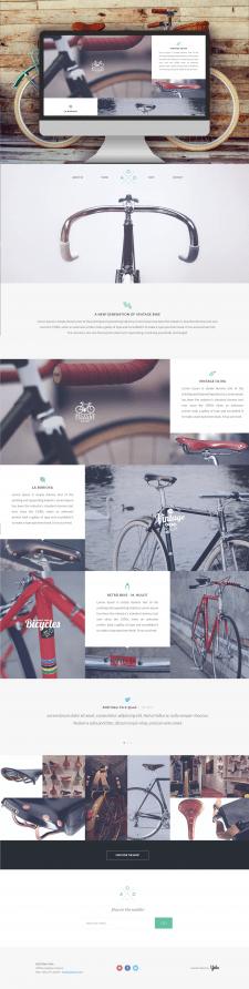 Адаптивная верстка Landing Page Vintage Bikes