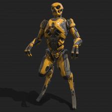 Hi-poly 3d robot
