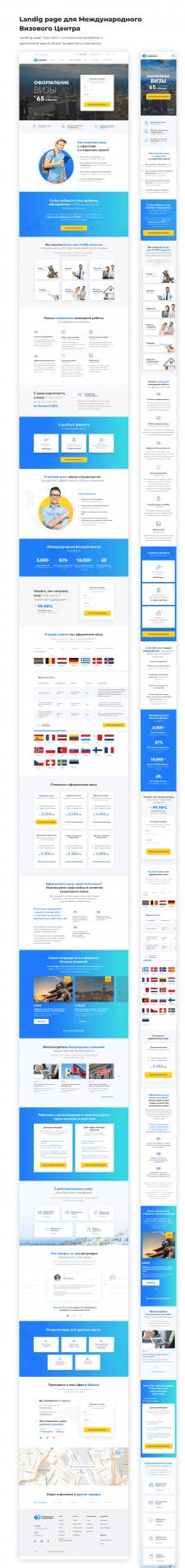 Landig page для Международного Визового Центра
